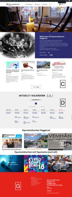 Information om nya hemsidan