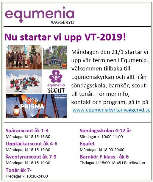 Nu startar Equmenia upp VT-2019!