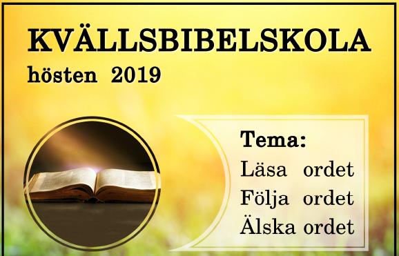 Kvällsbibelskola HT 2019