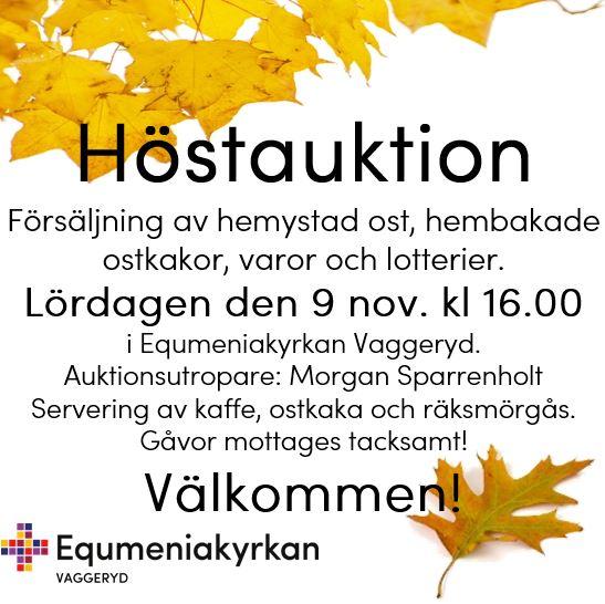Höstauktion 9 November