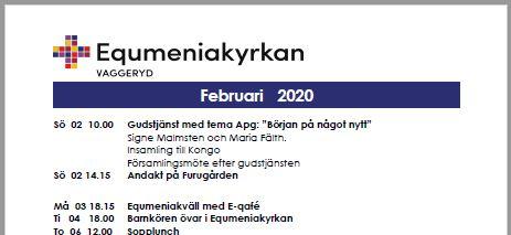 Program för februari!