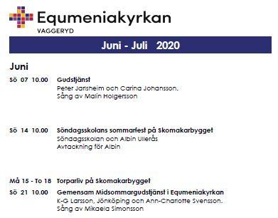 Program för juni & juli!