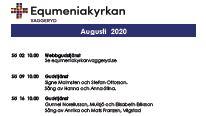 Program för augusti!