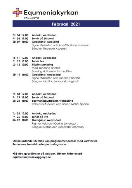 Program för Februari