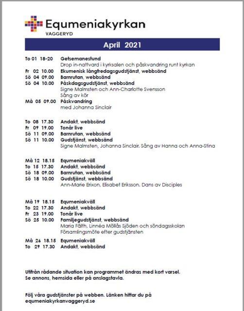Program för April