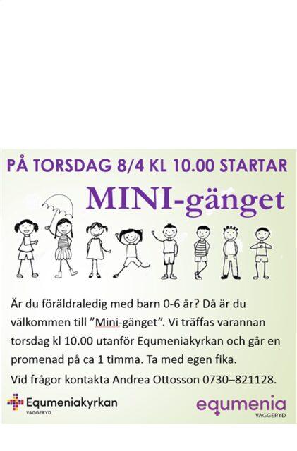 Minigänget startar 8/4 kl 10