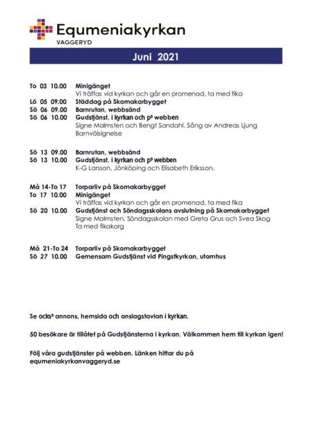 Program för juni