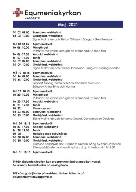 Program för maj