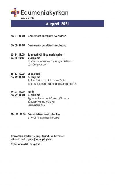 Program för augusti